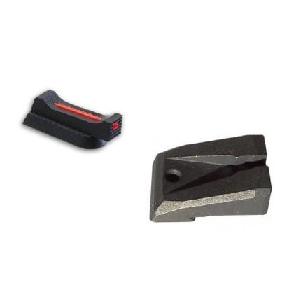 SET Tacca di mira Target + Mirino con fibra ottica 1,5 mm x 5,5 CZ