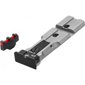 """Tacca di Mira Target """"Red Dot Ready"""" + Mirino MP35F con Fibra Ottica, per Relvolver Smith & Wesson - LPA"""