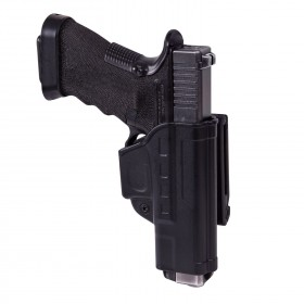 Fast Draw Holster for Glock 17 with Belt Clip, Military Grade Polymer, Ambidextrous - Helikon Tex
