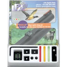 Set slug in fibra ottica per fucile (6-7-8mm) - LPA