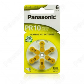 atterie Hearing Aid Batteries PR10 Panasonic