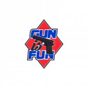 Patch in PVC 'Gun is fun' - Helikon Tex