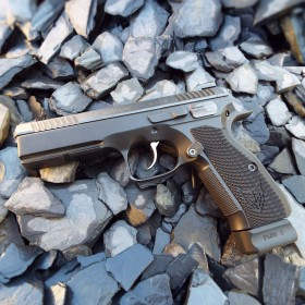 Asymmetrical Aluminium Grips CZ 75 SP01/ Shadow 2 - Matt Competition Products