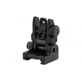 UTG ACCU-SYNC® Mira posteriore flip-up a molla AR15