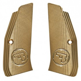 Guancette in Ottone per CZ 75 SP-01 long checkered