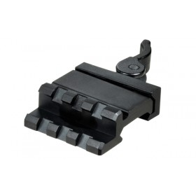 UTG Single Rail/3-Slot Angle Mount 45° w/QD Lever Mount