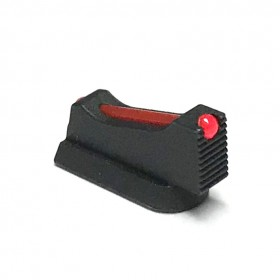 Mirino Top-Edge con 1 mm inserto in fibra ottica rosso h. 7,5 - CZ