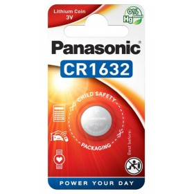 Button battery CR1632 in lithium 3V - Panasonic