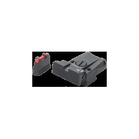 Set tacca di mira regolabile e mirino in fibra ottica - LPA