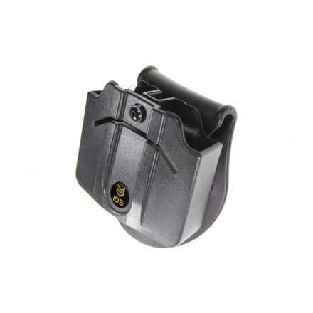 Two Double Stack Polymer Mag Pouch 9 & 40 Glock - IDS