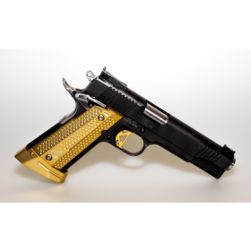 1911 Monarch Grips and Magwell BRASS set - M-Arms