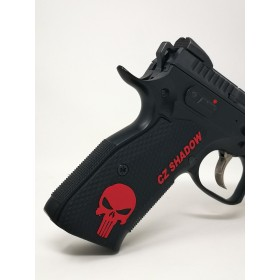 """Guancette per Shadow 2 THIN ROUGHNECK (Sottili) Color-Fill Engraved """"SKULL"""" - Lok Grips"""