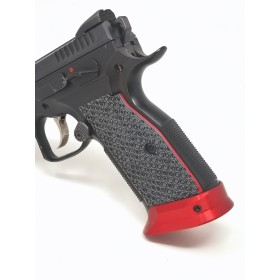 Guancette per Shadow 2 Palm Swell BOGIES SHORT (Ergonomiche-Corte) in G10 - Liner Rosso - Lok Grips