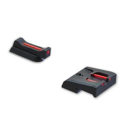 SET Tacca di mira con fibre ottiche + Mirino con fibra ottica 1,5 mm x 5,5 CZ
