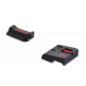 SET Tacca di mira con fibre ottiche + Mirino con fibra ottica 1mm x 5,5 CZ