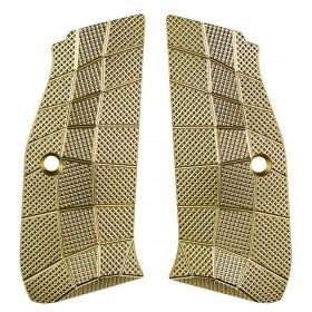 Palm Swell GridLOK Grips Shadow 2 (Brass), texture Aggressive - Lok Grips