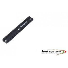 Slitta Picatinny corta (per tubi astina ToniSystem) - Toni System