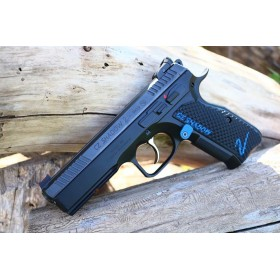 "CZ Shadow 2 Grips Palm Swell BOGIES in G10, Color-Fill ""CZ Shadow"" & ""2"" w/ Liner - Lok Grips"