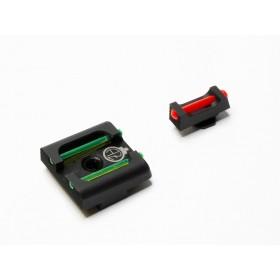 Set Tacca di mira fissa e Mirino fibra ottica per Glock - Zendl