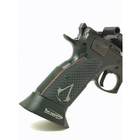 THIN BOGIES grips Shadow 2 / Tactical Sport / Czechmate (G10) Slim/Short with Assassin's Creed logo - Lok Grips
