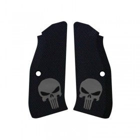 CZ Shadow 2 Grips Thin Full Checkered Punisher - Lok Grips