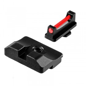 High Sights Set, Competition ready fiber optic front sight with black steel rear sight, for Glock 21-41 - Truglo
