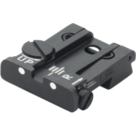 Adjustable rear sight for CZ 75 SP-01 Shadow, with white dots - LPA