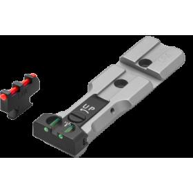 """Tacca di Mira con Fibre Ottiche """"Red Dot Ready"""" + Mirino con Fibra Ottica, per Relvolver Smith & Wesson - LPA"""