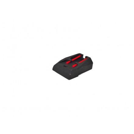 Tacca di mira con fibre ottiche rosse - CZ