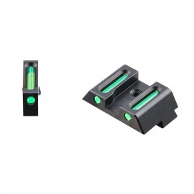 Rear Sight + Front Sight with Fiber Optic, for Glock - Vector Optic